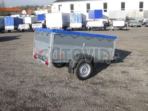 Nejlevnější přívěsný vozík za osobní auto HD 3 750kg 2,07x1,10/0,70 nástavba** č.2
