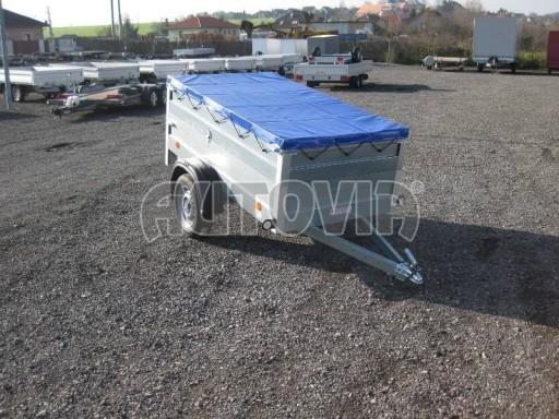 Nejlevnější přívěsný vozík za osobní auto HD 3 750kg 2,07x1,10/0,70 nástavba** č.1