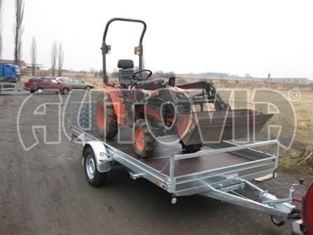 Sklopný přívěs pro přepravu mechanizace, automobilů PZ 1,5T SK 3,65x1,85 č.3
