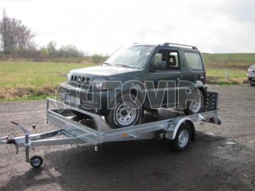 Sklopný přívěs pro přepravu mechanizace, automobilů PZ 1,5T SK 3,65x1,85 č.4