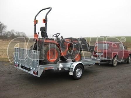 Sklopný přívěs pro přepravu mechanizace, automobilů PZ 1,5T SK 3,65x1,85 č.5
