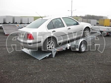 Sklopný přívěs pro přepravu mechanizace, automobilů PZ 1,5T SK 3,65x1,85 č.6