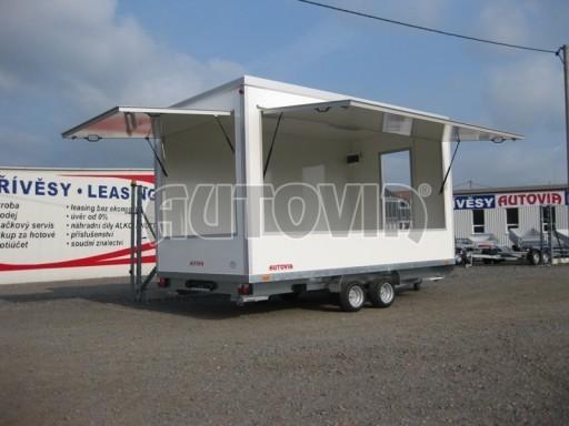 Přívěsný vozík (prodejní stánek) EW 2,5T 4,10x2,20/2,30 č.1