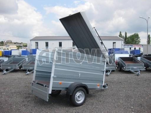 Přívěsný vozík za osobní auto HD 3 750kg 2,07x1,10/1,20 2ks nástavba víko** č.2