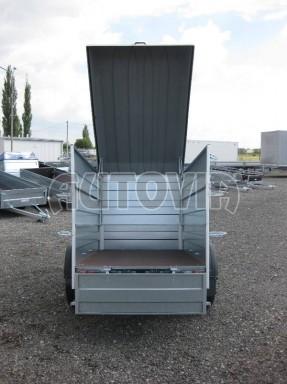 Přívěsný vozík za osobní auto HD 3 750kg 2,07x1,10/1,20 2ks nástavba víko** č.3
