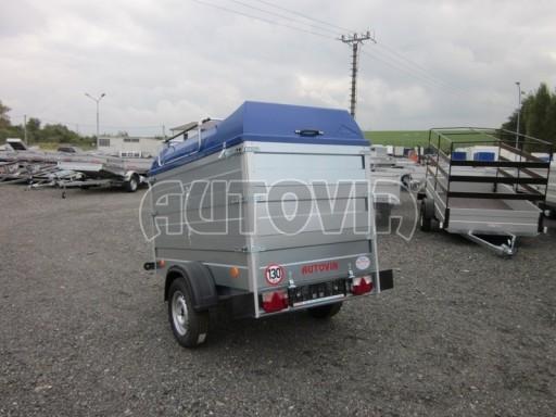 Přívěsný vozík za osobní auto HD 3 750kg 2,07x1,10/1,20 2ks nástavba víko** č.5