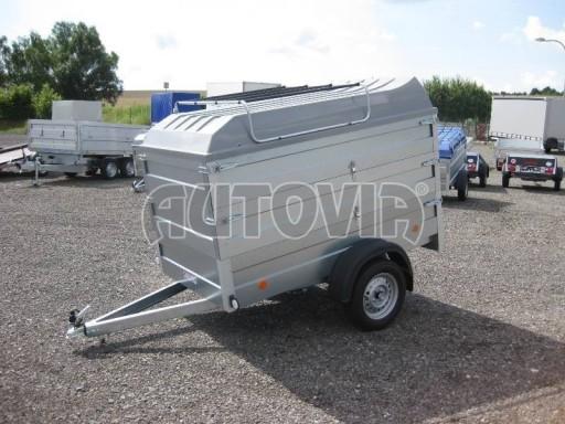 Přívěsný vozík za osobní auto HD 3 750kg 2,07x1,10/1,20 2ks nástavba víko** č.1