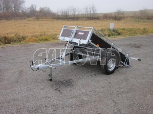 Nebrzděný sklopný přívěsný vozík DNG 750kg 2,06x1,27/0,35 zes.nápr. č.1