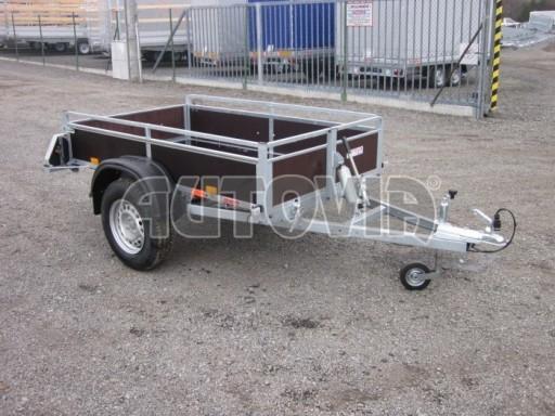 Nebrzděný sklopný přívěsný vozík DNG 750kg 2,06x1,27/0,35 zes.nápr. č.4