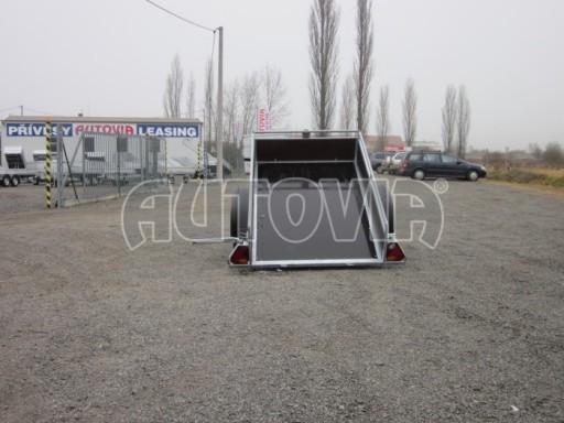Nebrzděný sklopný přívěsný vozík DNG 750kg 2,06x1,27/0,35 zes.nápr. č.2