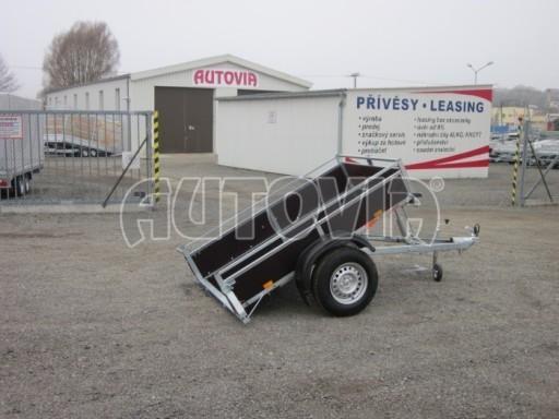 Nebrzděný sklopný přívěsný vozík DNG 750kg 2,06x1,27/0,35 zes.nápr. č.5