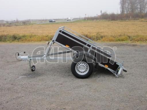 Nebrzděný sklopný přívěsný vozík DNG 750kg 2,06x1,27/0,35 zes.nápr. č.3