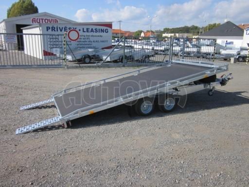 Dvouosý brzděný přívěs s hydraulicky sklopnou plochou AD speciál plato 2,7t 4,15/1,88** č.5