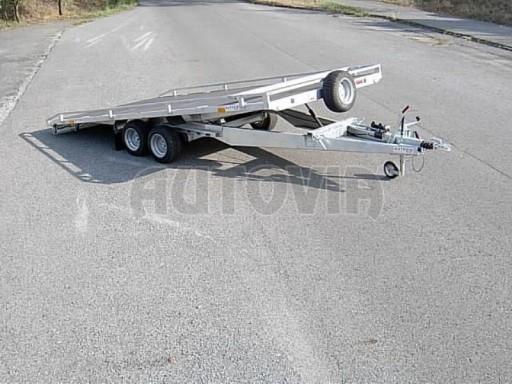 Dvouosý brzděný přívěs s hydraulicky sklopnou plochou AD speciál plato 2,7t 4,15/1,88** č.9