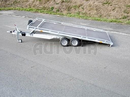 Dvouosý brzděný přívěs s hydraulicky sklopnou plochou AD speciál plato 2,7t 4,15/1,88** č.16