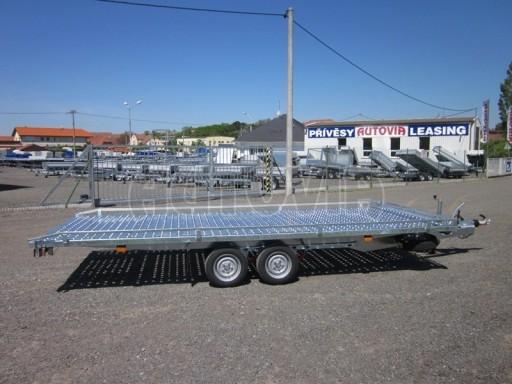 Dvouosý brzděný přívěs s hydraulicky sklopnou plochou AD speciál plato 2,7t 4,15/1,88** č.20