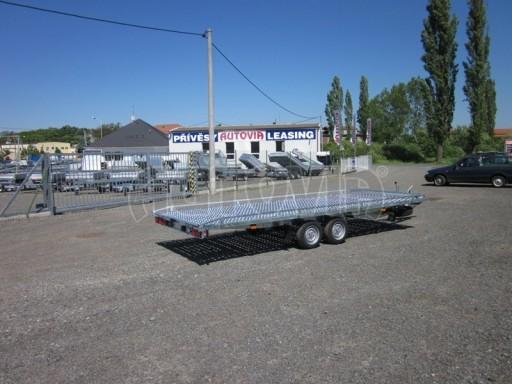 Dvouosý brzděný přívěs s hydraulicky sklopnou plochou AD speciál plato 2,7t 4,15/1,88** č.21