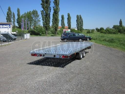 Dvouosý brzděný přívěs s hydraulicky sklopnou plochou AD speciál plato 2,7t 4,15/1,88** č.22