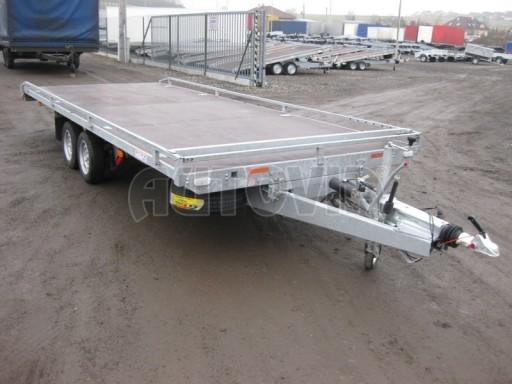 Dvouosý brzděný přívěs s hydraulicky sklopnou plochou AD speciál plato 2,7t 4,15/1,88** č.26