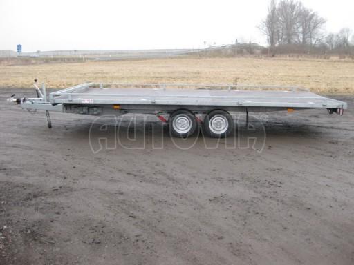 Dvouosý brzděný přívěs s hydraulicky sklopnou plochou AD speciál plato 2,7t 4,15/1,88** č.29