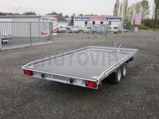 Dvouosý brzděný přívěs s hydraulicky sklopnou plochou AD speciál plato 2,7t 4,15/1,88** č.54