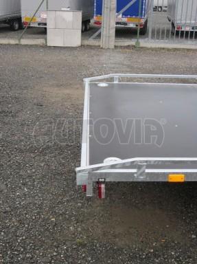 Dvouosý brzděný přívěs s hydraulicky sklopnou plochou AD speciál plato 2,7t 4,15/1,88** č.55