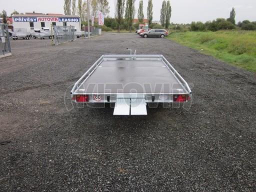 Dvouosý brzděný přívěs s hydraulicky sklopnou plochou AD speciál plato 2,7t 4,15/1,88** č.56