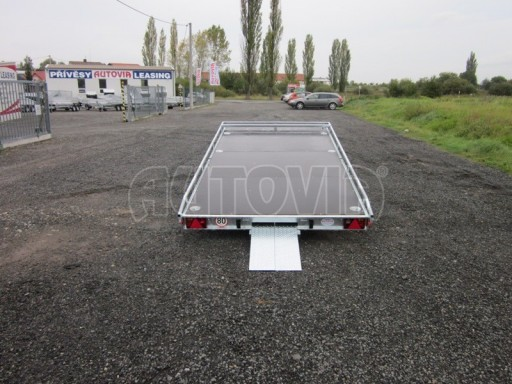 Dvouosý brzděný přívěs s hydraulicky sklopnou plochou AD speciál plato 2,7t 4,15/1,88** č.61