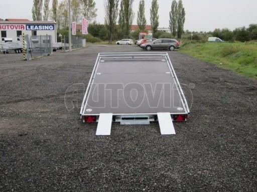 Dvouosý brzděný přívěs s hydraulicky sklopnou plochou AD speciál plato 2,7t 4,15/1,88** č.62
