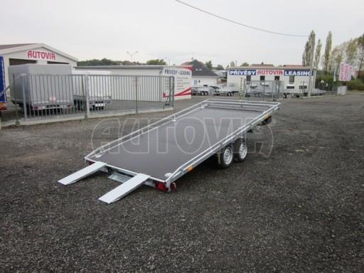 Dvouosý brzděný přívěs s hydraulicky sklopnou plochou AD speciál plato 2,7t 4,15/1,88** č.65