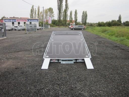 Dvouosý brzděný přívěs s hydraulicky sklopnou plochou AD speciál plato 2,7t 4,15/1,88** č.68