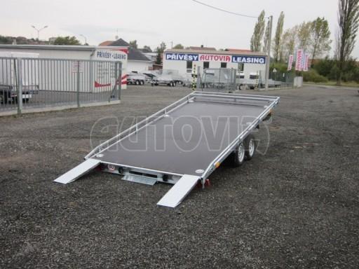 Dvouosý brzděný přívěs s hydraulicky sklopnou plochou AD speciál plato 2,7t 4,15/1,88** č.70