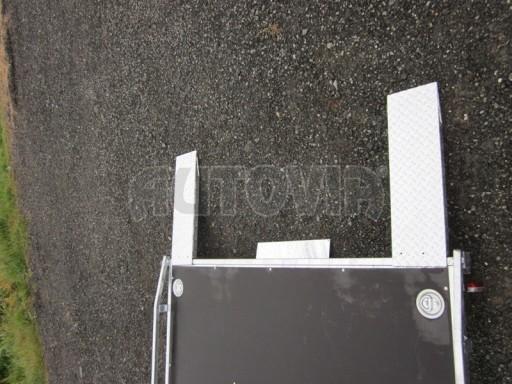 Dvouosý brzděný přívěs s hydraulicky sklopnou plochou AD speciál plato 2,7t 4,15/1,88** č.72