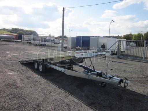 Dvouosý brzděný přívěs s hydraulicky sklopnou plochou AD speciál plato 2,7t 4,15/1,88** č.88