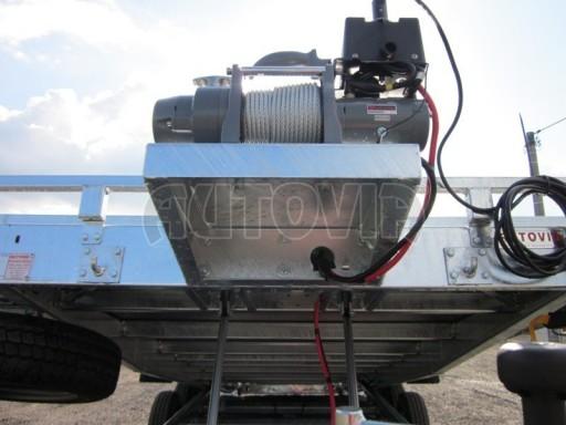 Dvouosý brzděný přívěs s hydraulicky sklopnou plochou AD speciál plato 2,7t 4,15/1,88** č.90