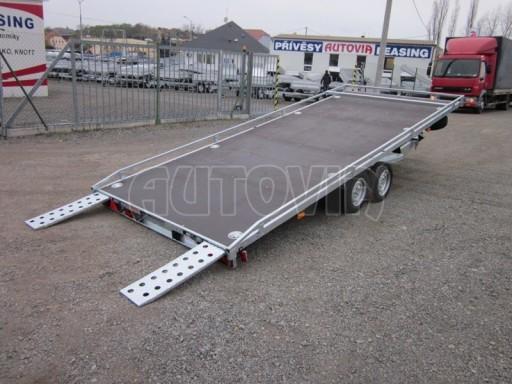 Dvouosý brzděný přívěs s hydraulicky sklopnou plochou AD speciál plato 2,7t 4,15/1,88** č.96