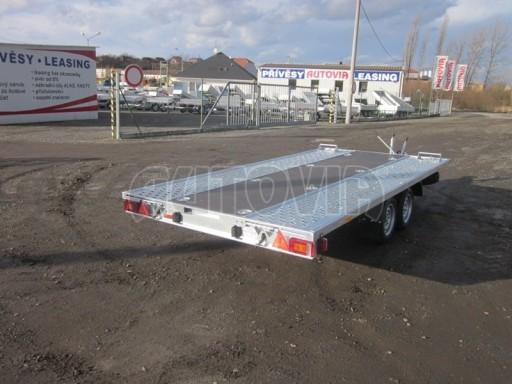 Dvouosý brzděný přívěs s hydraulicky sklopnou plochou AD speciál plato 2,7t 4,15/1,88** č.110