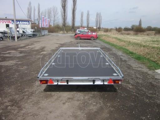 Dvouosý brzděný přívěs s hydraulicky sklopnou plochou AD speciál plato 2,7t 4,15/1,88** č.127