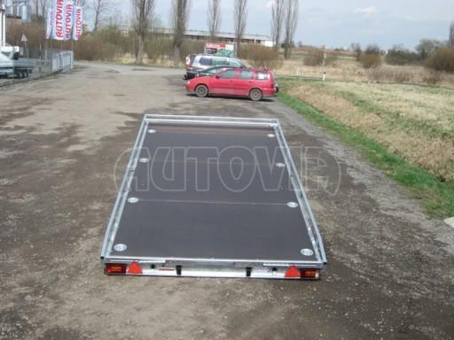 Dvouosý brzděný přívěs s hydraulicky sklopnou plochou AD speciál plato 2,7t 4,15/1,88** č.132