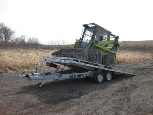 Dvouosý brzděný přívěs s hydraulicky sklopnou plochou AD speciál plato 2,7t 4,15/1,88** č.149