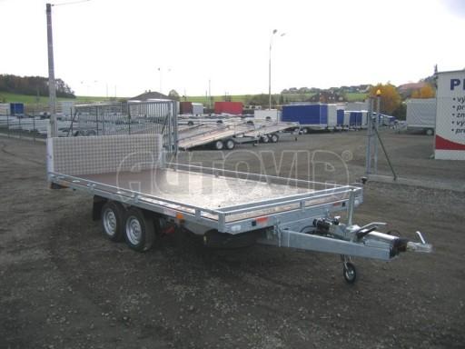 Dvouosý brzděný přívěs s hydraulicky sklopnou plochou AD speciál plato 2,7t 4,15/1,88** č.175