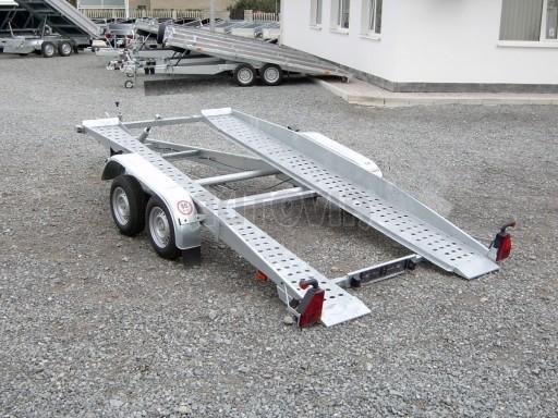 Dvouosý brzděný přívěs k přepravě automobilů PT 2,5T** č.1