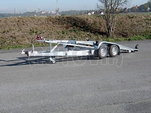 Dvouosý brzděný přívěs k přepravě automobilů PT 2,5T** č.7