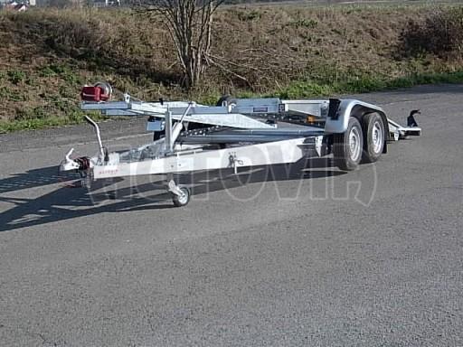 Dvouosý brzděný přívěs k přepravě automobilů PT 2,5T** č.8