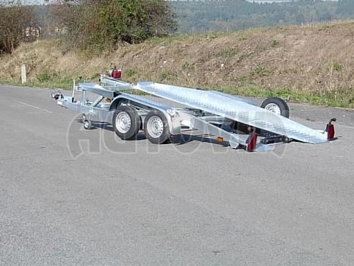 Dvouosý brzděný přívěs k přepravě automobilů PT 2,5T** č.10