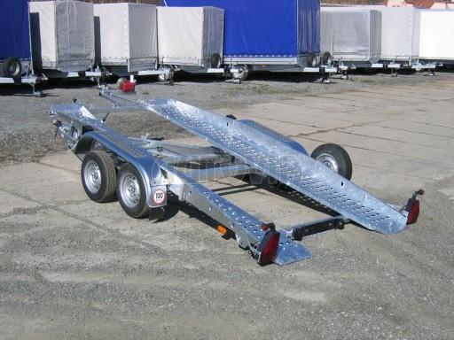 Dvouosý brzděný přívěs k přepravě automobilů PT 2,5T** č.16