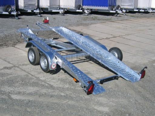 Dvouosý brzděný přívěs k přepravě automobilů PT 2,5T** č.17