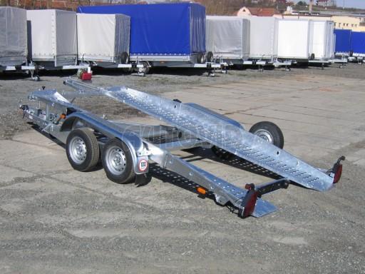 Dvouosý brzděný přívěs k přepravě automobilů PT 2,5T** č.18