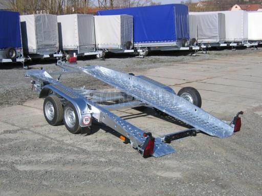 Dvouosý brzděný přívěs k přepravě automobilů PT 2,5T** č.19