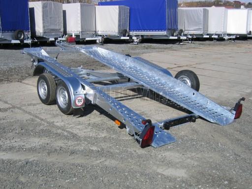 Dvouosý brzděný přívěs k přepravě automobilů PT 2,5T** č.20